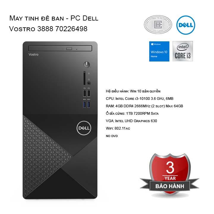 Máy tính để bàn - PC Dell Vostro 3888 70226498 - no DVD