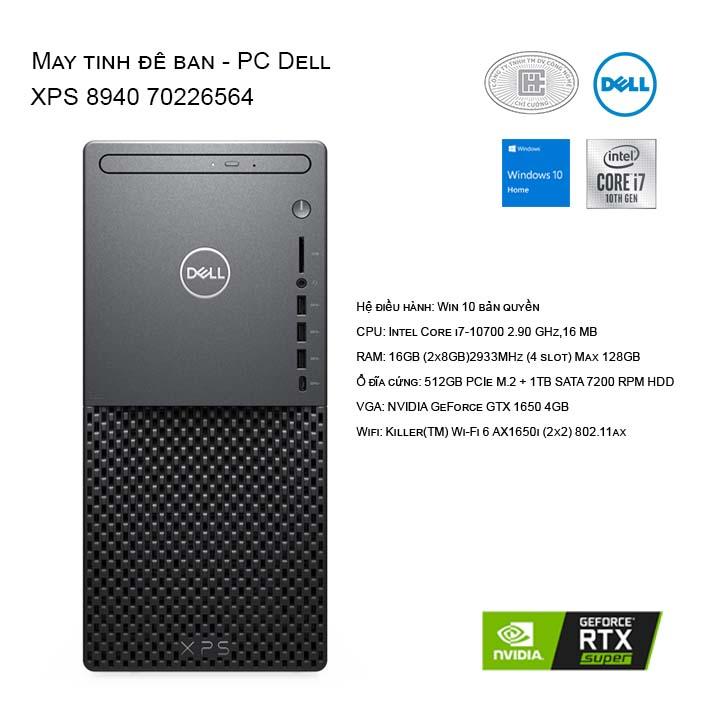 Máy tính để bàn - PC Dell XPS 8940 70226564
