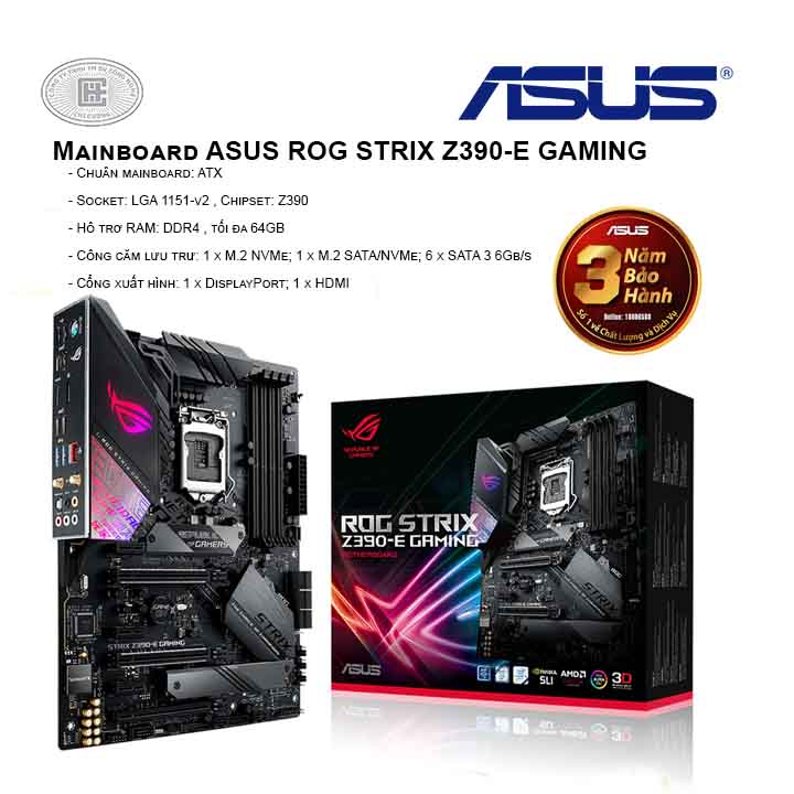Mainboard ASUS ROG STRIX Z390-E GAMING