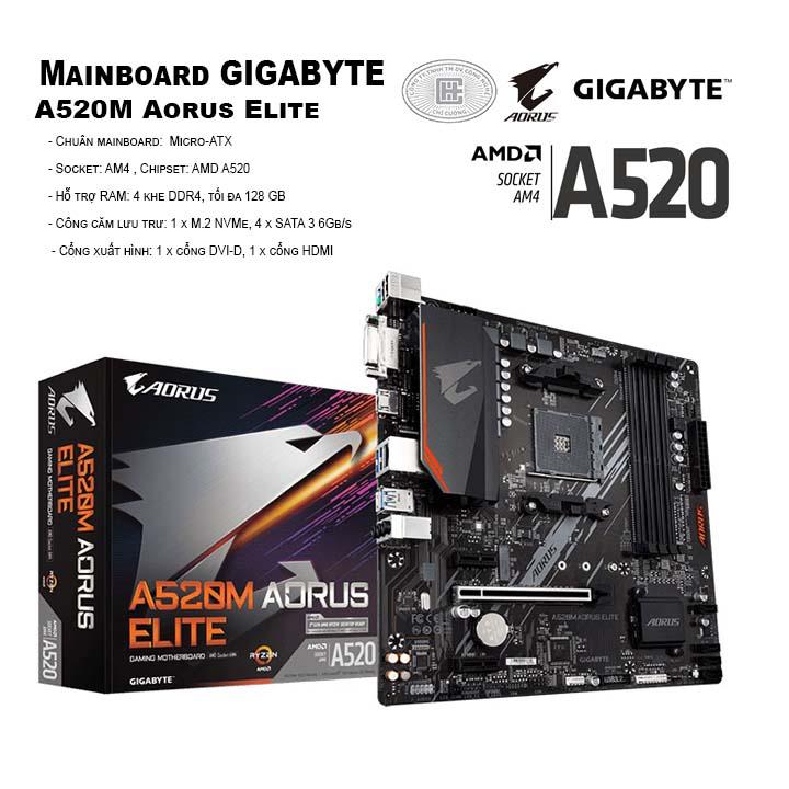 Mainboard Gigabyte A520M Aorus Elite