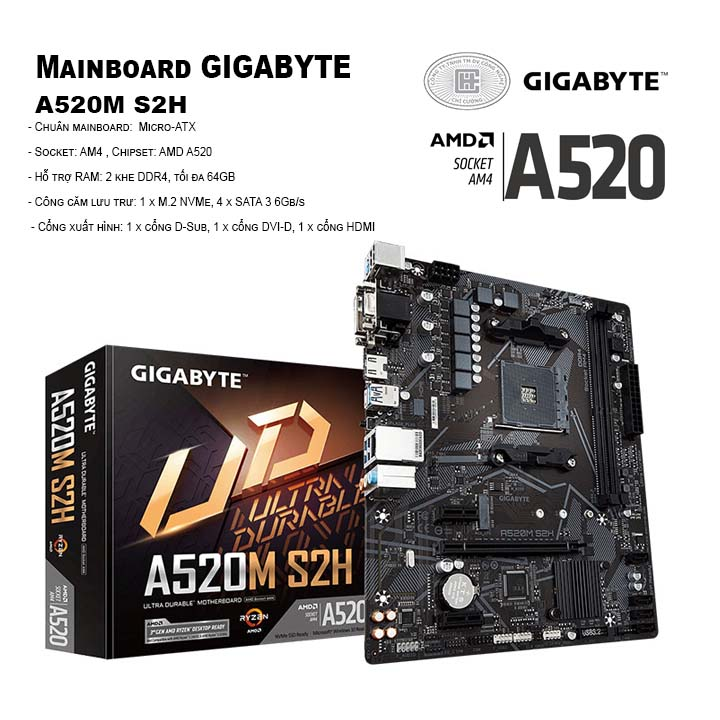 Mainboard Gigabyte A520M S2H