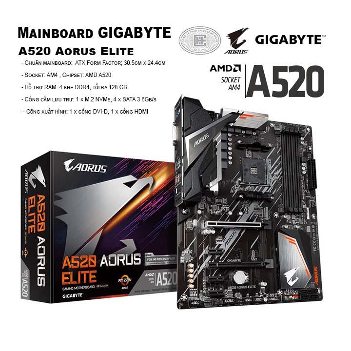 Mainboard Gigabyte A520 Aorus Elite