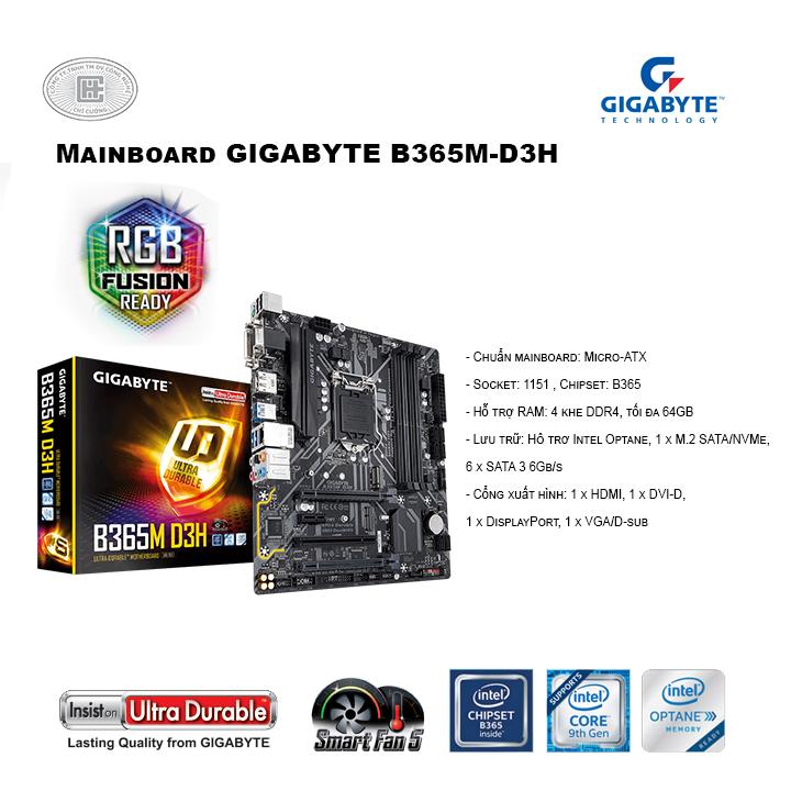 Mainboard GIGABYTE B365M-D3H