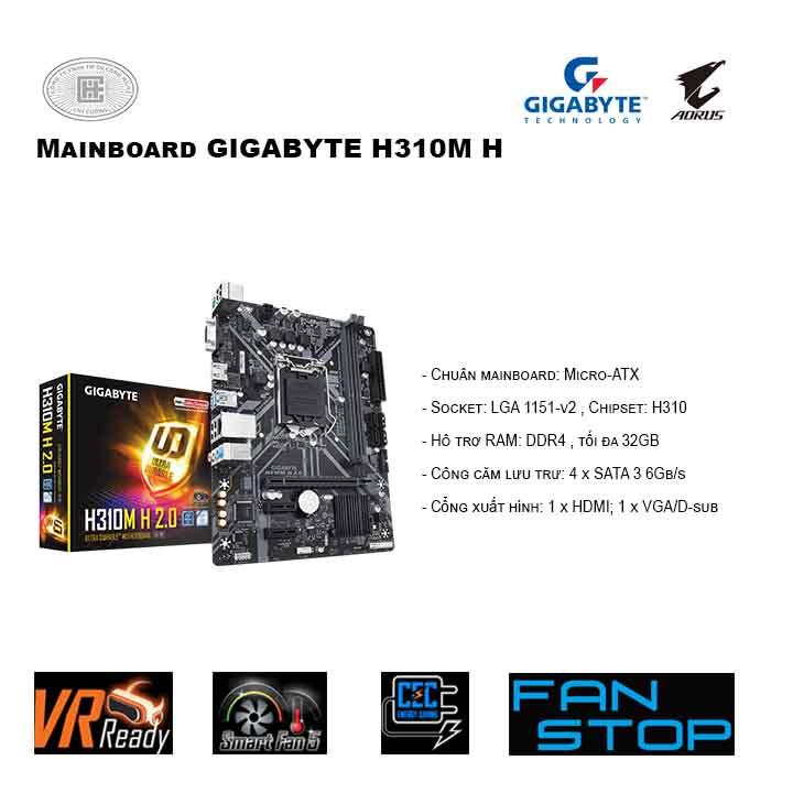 Mainboard GIGABYTE H310M H