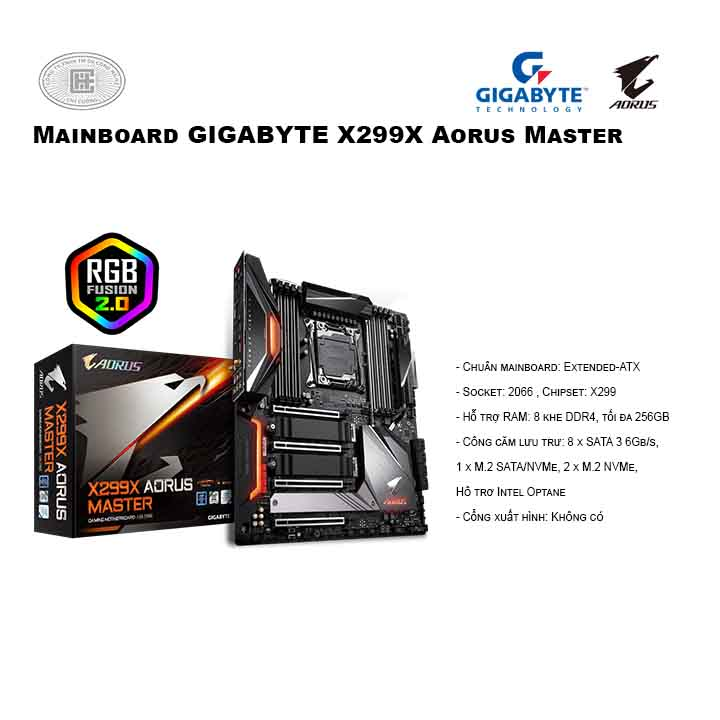 Mainboard GIGABYTE X299X Aorus Master