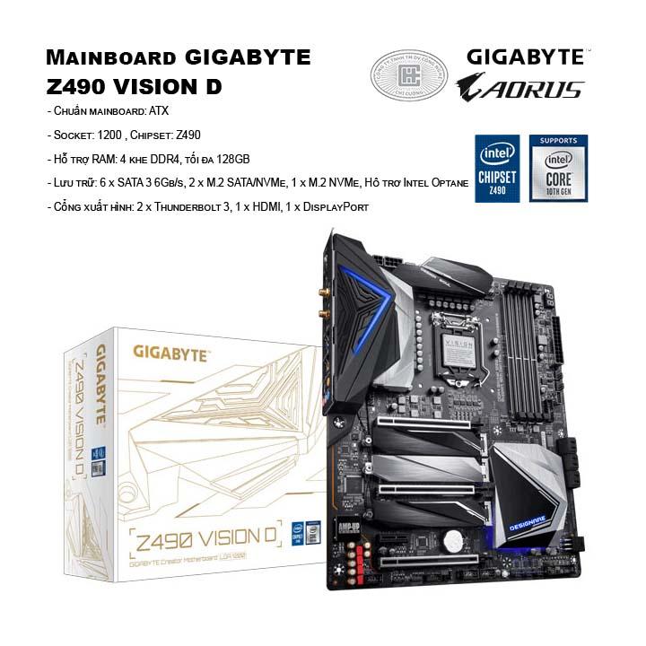 Mainboard GIGABYTE Z490 VISION D
