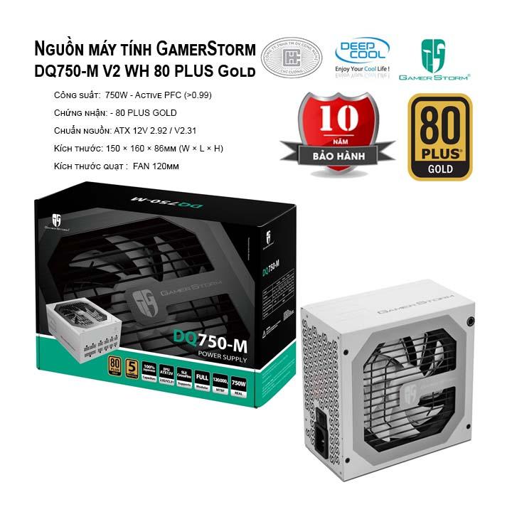 Nguồn máy tính Deep Cool GamerStorm DQ750-M 80 PLUS Gold - Màu Trắng