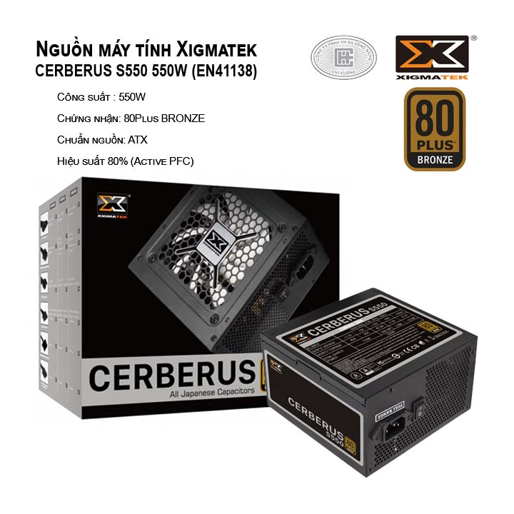 Nguồn máy tính Xigmatek CERBERUS S550 EN41138