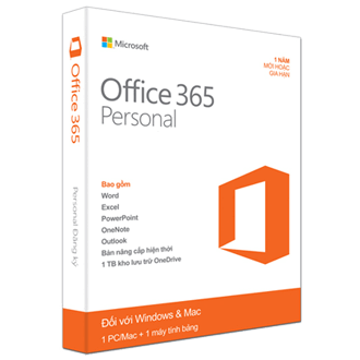 Office 365 Personal - 32bit/x64 English Subscr 1YR APAC EM