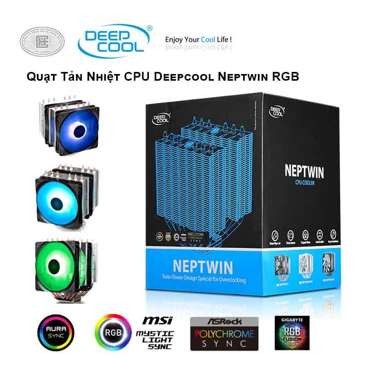 Tản nhiệt khí CPU DEEPCOOL Neptwin RGB