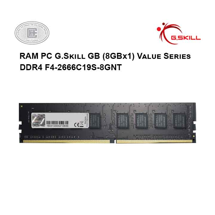 RAM PC G.Skill GB (8GBx1) Value Series DDR4 F4-2666C19S-8GNT