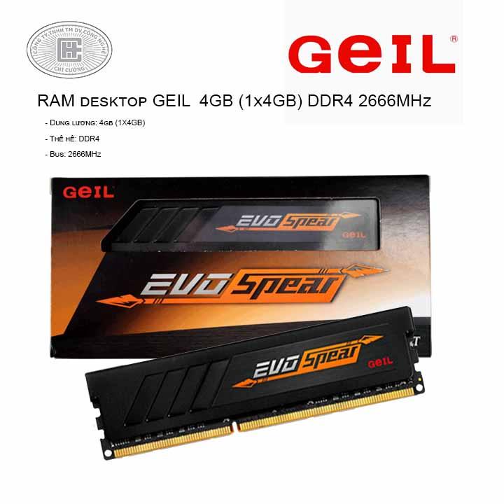 RAM desktop GeIL EVO Spear (2x8GB) DDR4 2400MHz (GSB416GB2400c17DC)