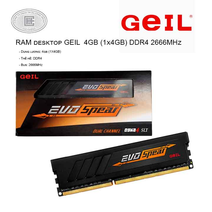 RAM desktop GeIL EVO Spear (1x8GB) DDR4 2666MHz