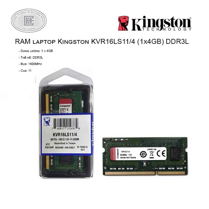RAM laptop Kingston KVR16LS11/4 (1x4GB) DDR3L 1600MHz