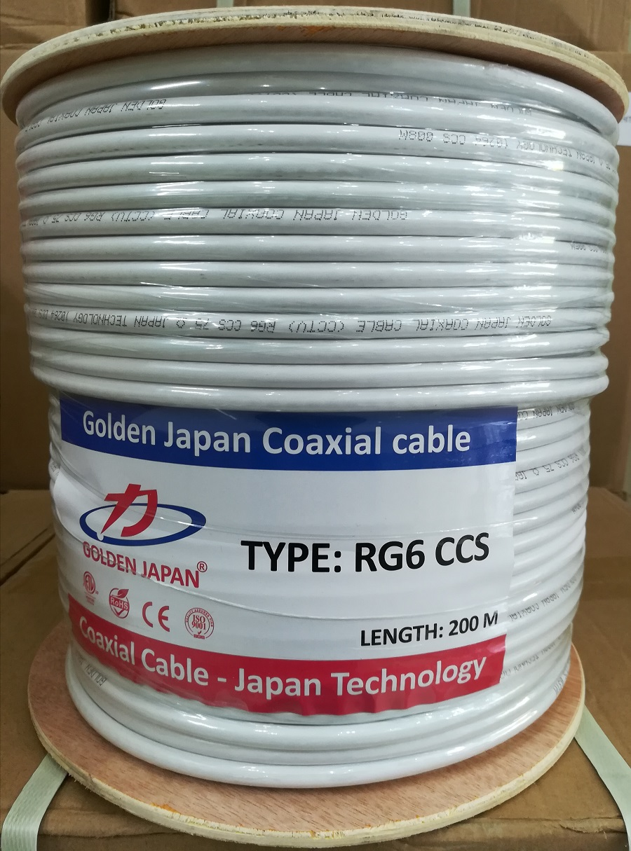 Cáp camera RG6 CCS GOLDEN JAPAN