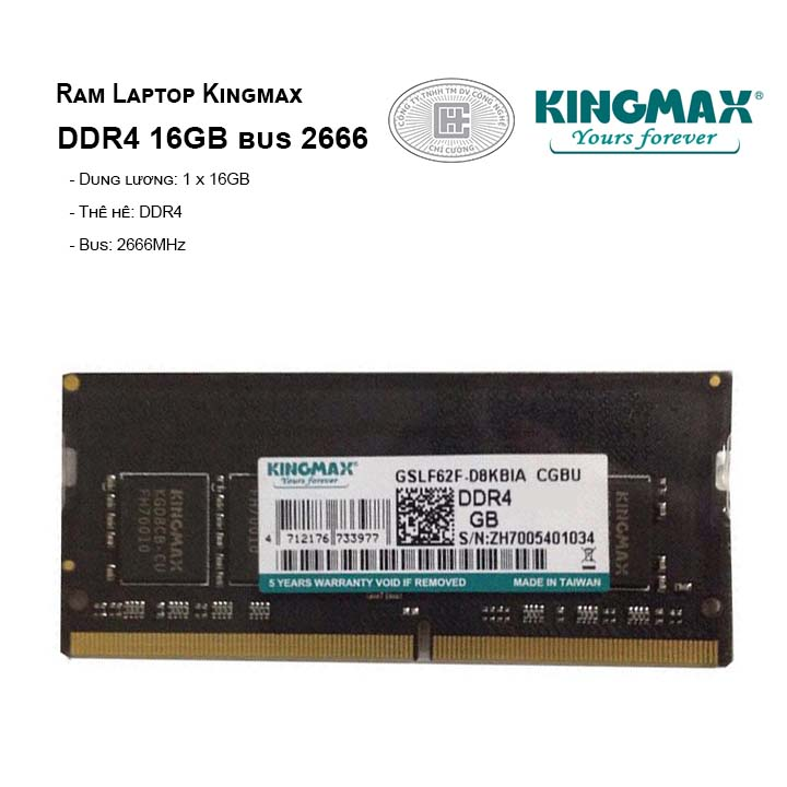Ram Laptop Kingmax DDR4 16GB bus 2666