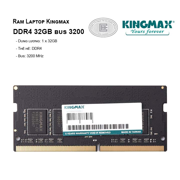 Ram Laptop Kingmax DDR4 32GB bus 3200