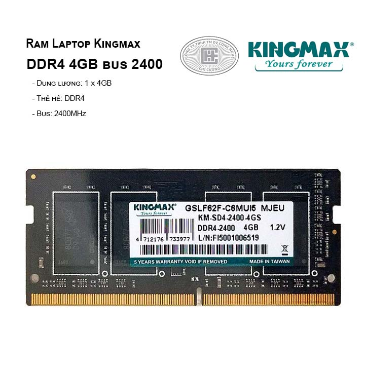 Ram Laptop Kingmax 4GB bus 2400MHz