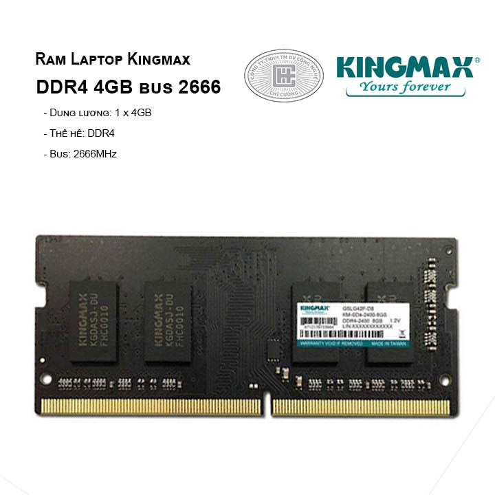 Ram Laptop Kingmax DDR4 4GB bus 2666MHz