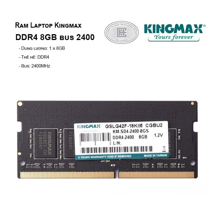 RAM Laptop KINGMAX 8GB BUS 2400MHz