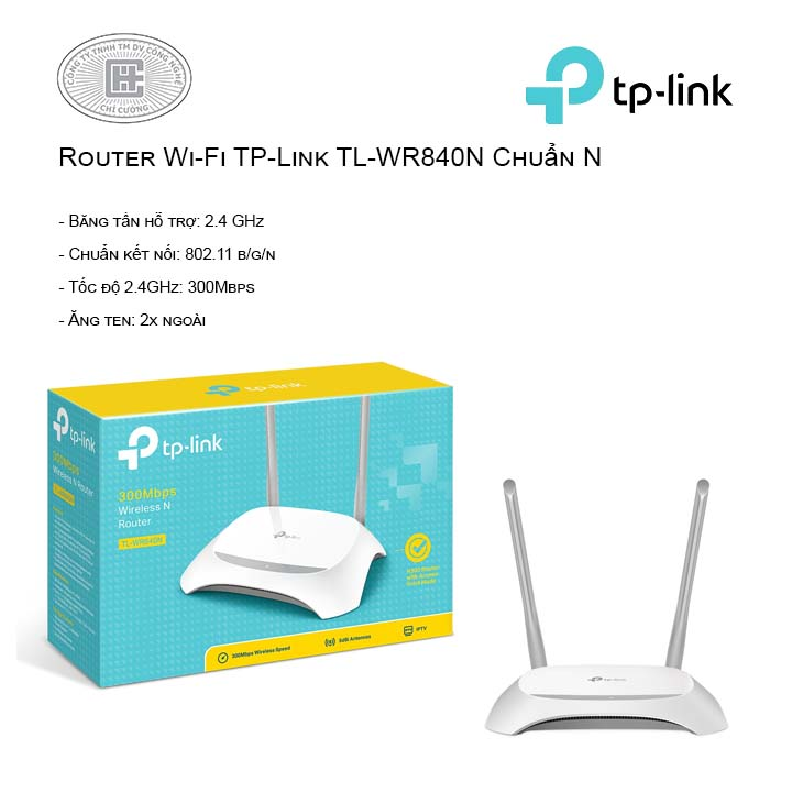 Router Wi-Fi TP-Link TL-WR840N Chuẩn N