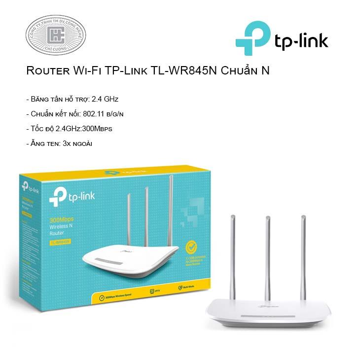 Router Wi-Fi TP-Link TL-WR845N Chuẩn N