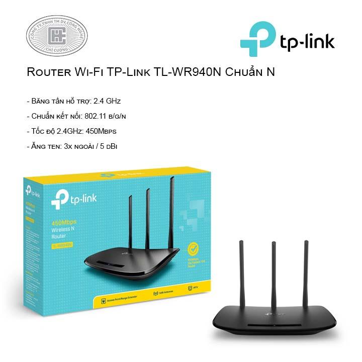 Router Wi-Fi TP-Link TL-WR940N Chuẩn N
