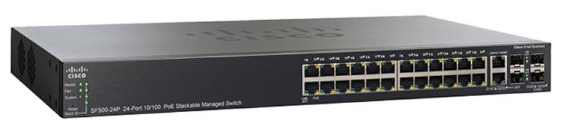 CISCO SF500-24-K9-G5 10/100Mbps MANAGED SWITCH L2/L3 - 24 PORT