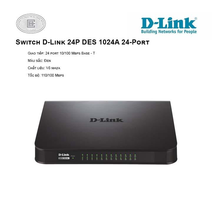 Switch D-Link 24P DES 1024A (Vỏ nhựa)