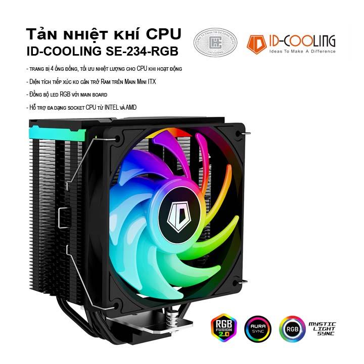 Tản nhiệt khí CPU ID-Cooling SE-234-RGB