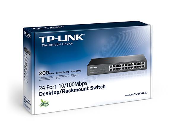 SWITCH TP LINK 24 port 10/100 M TL SF1024D