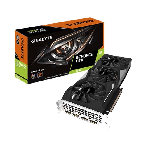 VGA GIGABYTE GeForce GTX 1660 GAMING OC 6G (GV-N1660GAMING OC-6GD)