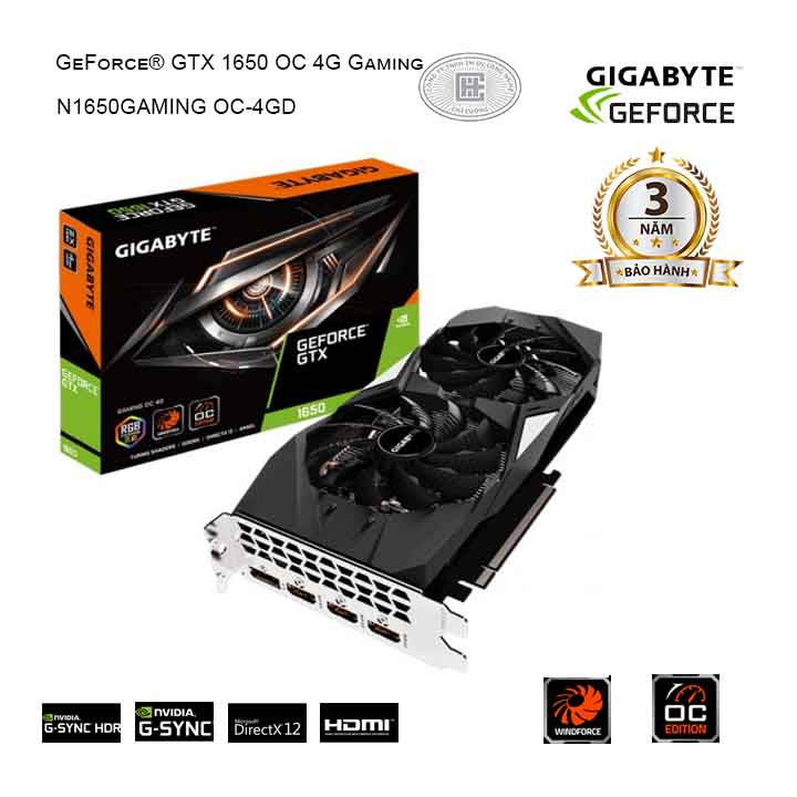 Card màn hình GIGABYTE GeForce GTX 1650 4GB GDDR5 Gaming OC (GV-N1650GAMING OC-4GD)