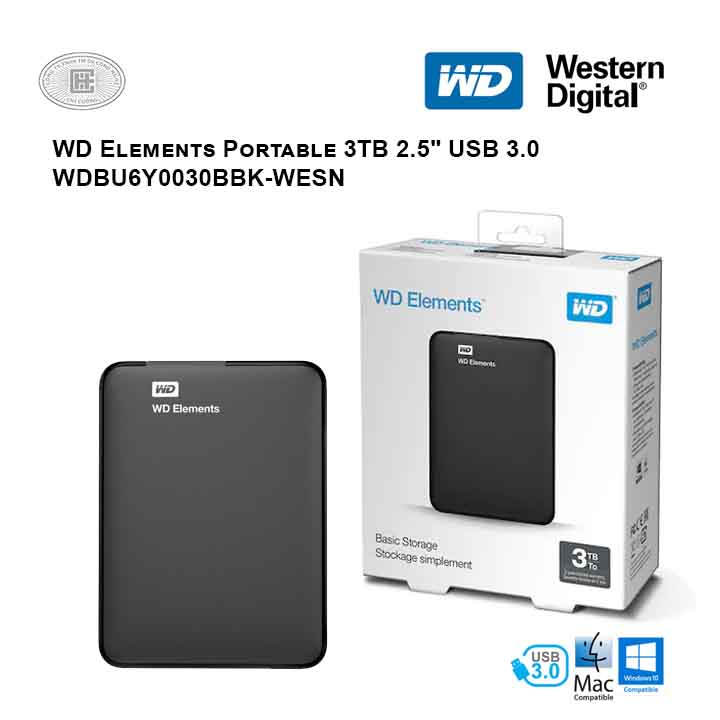 Ổ cứng di động HDD Western Digital Elements Portable 3TB 2.5
