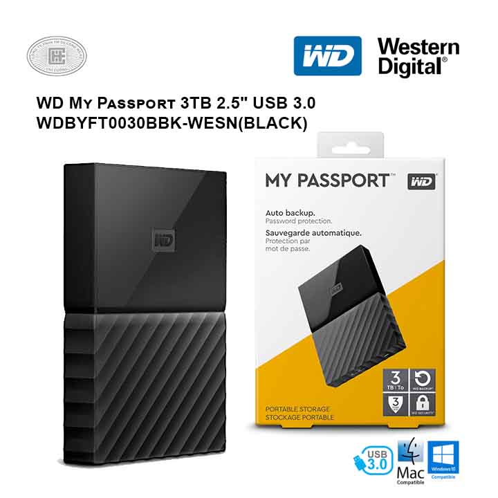 Ổ cứng di động HDD Western Digital My Passport 3TB 2.5