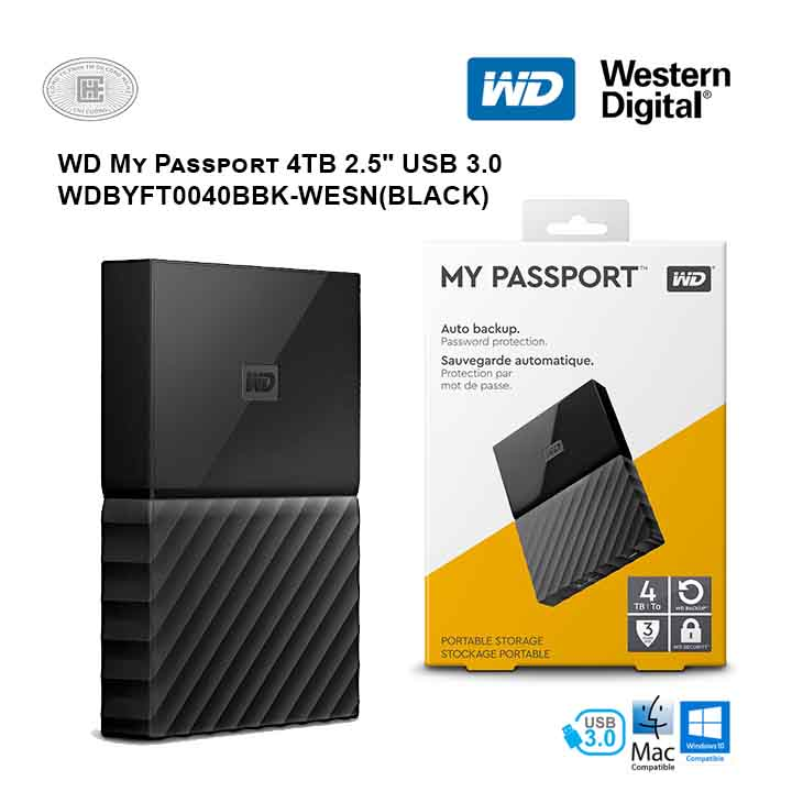 Ổ cứng di động HDD Western Digital My Passport 4TB 2.5