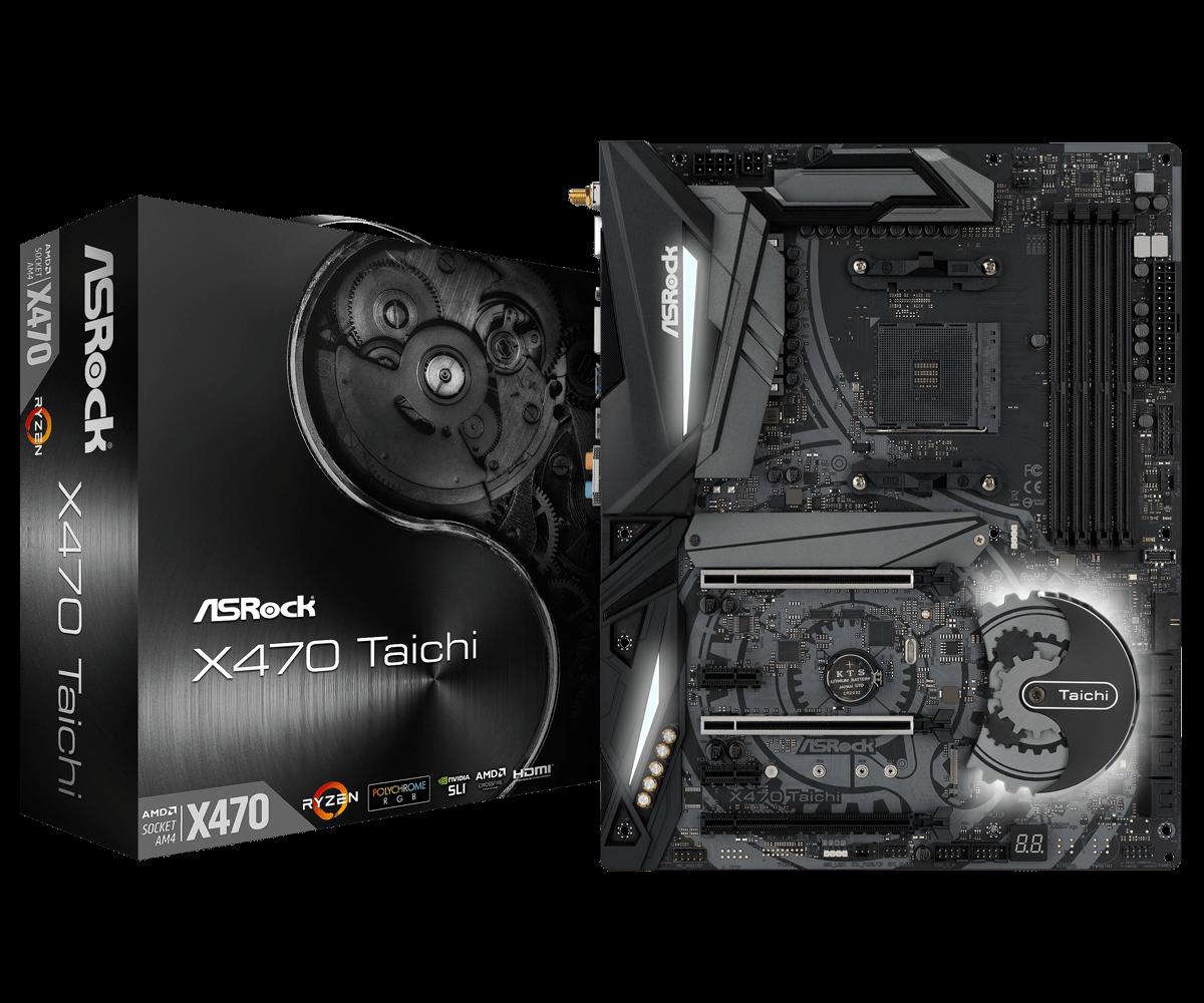Main ASrock X470 Taichi AMD AM4 Socket Ryzen Series