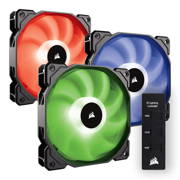 FAN FOR CPU CORSAIR - FAN SP 120 RGB LED - Hộp 3 FAN - with controller - CO-9050061-WW