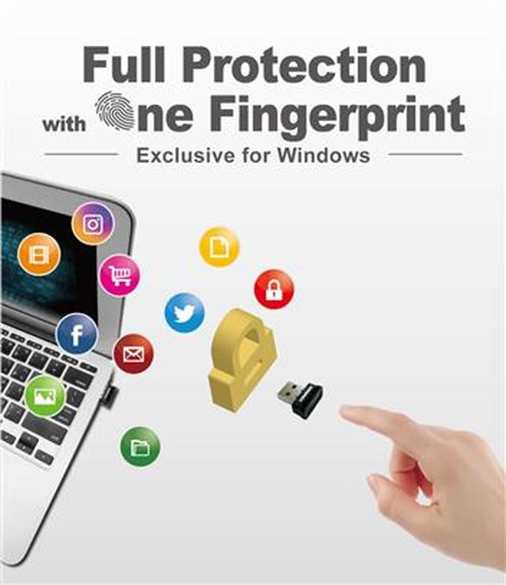 Thiết bị xử lý dữ liệu mã hóa bằng vân tay,  model IKEY Tiny USB hiệu Kingmax kết nối bằng cổng USB