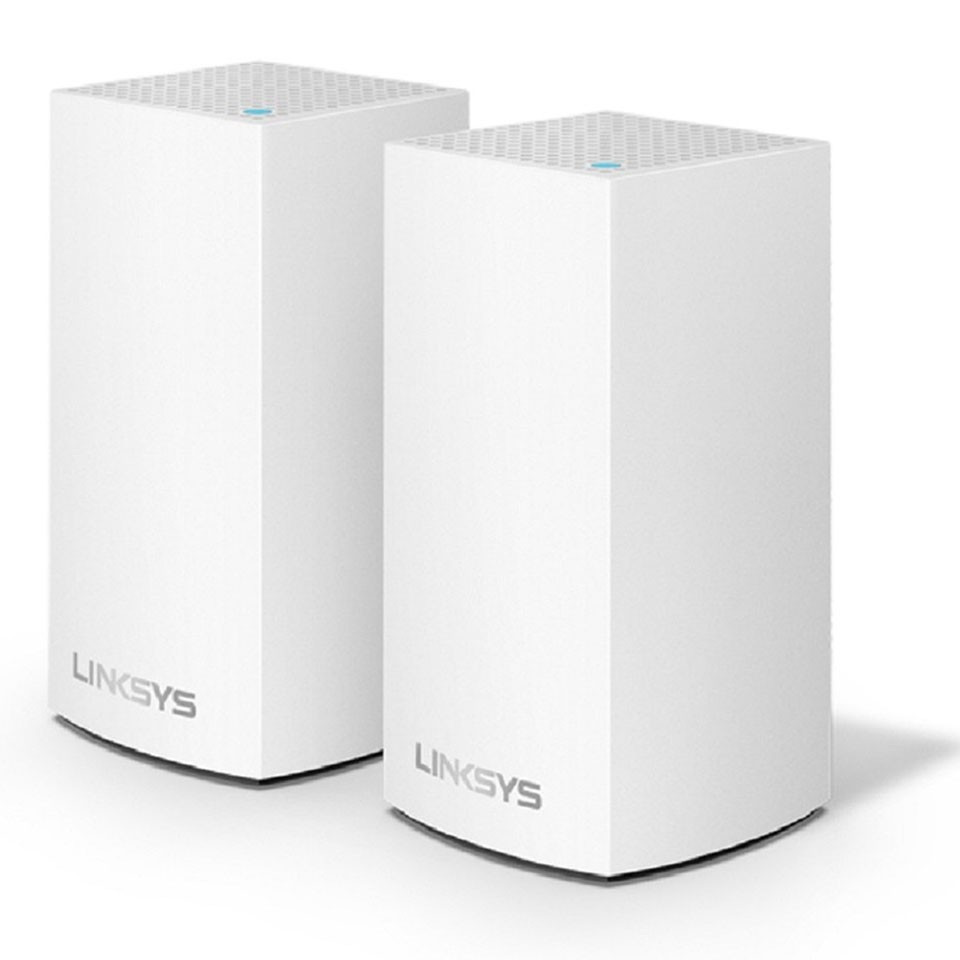 Router Wifi LINKSYS VELOP WHW0102-AH DUAL-BAND AC2600 INTELLIGENT MESH WIFI SYSTEM WIFI 5 MU-MIMO SYSTEM 2-PK