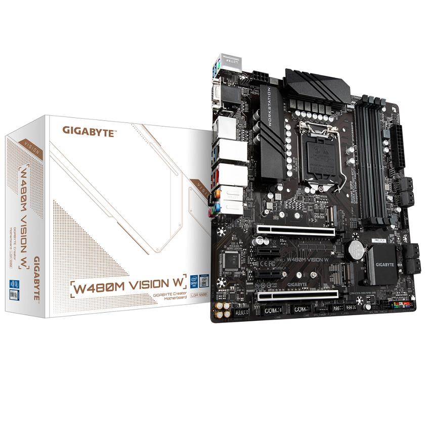 Mainboard Gigabyte W480M VISION W (W480, socket 1200, mATX, 4 khe RAM DDR4)