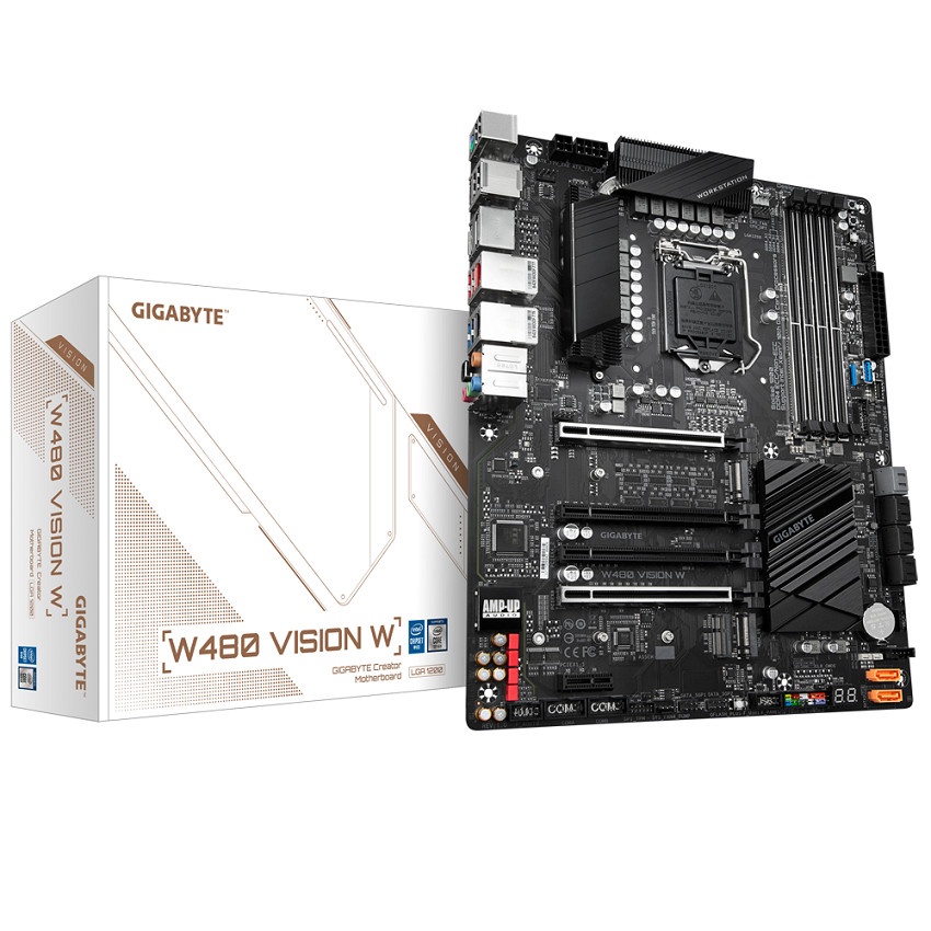Mainboard Gigabyte W480 VISION W (W480, socket 1200, ATX, 4 khe RAM DDR4)