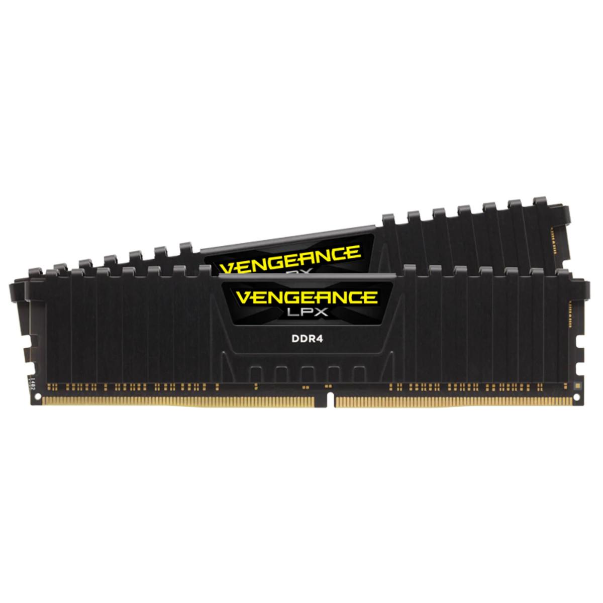 Bộ nhớ ram gắn trong Corsair DDR4, 3000MHz 32GB (2x16GB) 2 x 288 DIMM, Vengeance LPX Black Heat spreader, 1.2V, XMP 2.0 đen
