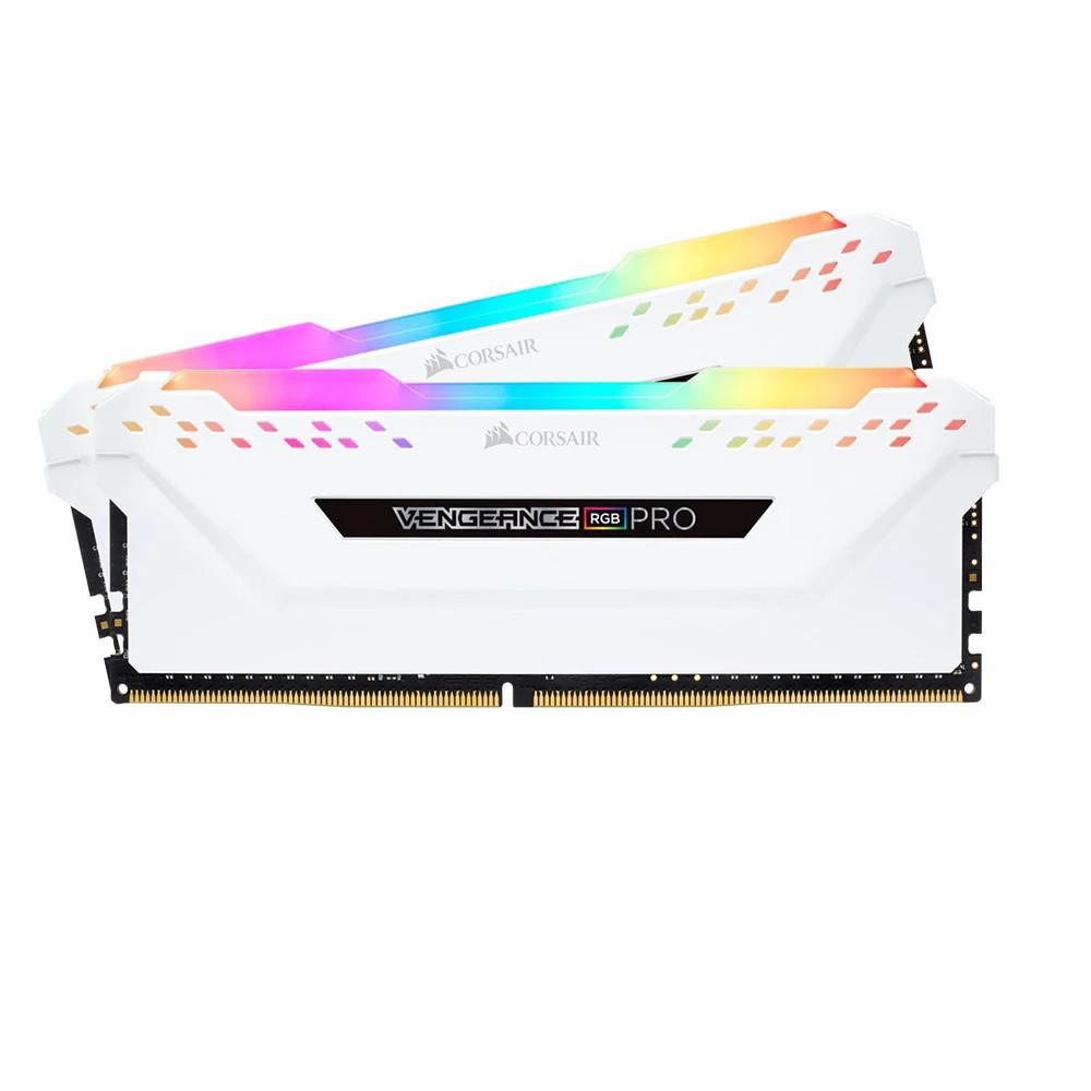 Bộ nhớ ram gắn trong Corsair DDR4 Vengeance RGB PRO Heat spreader,RGB LED, 3000MHz, CL15, 16GB (2x8GB) trắng
