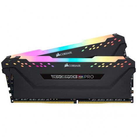 Bộ nhớ ram gắn trong Corsair DDR4, 3200MHz 64GB 2 x 288 DIMM, Vengeance RGB PRO black Heat spreader, RGB LED, 1.35V, XMP 2.0