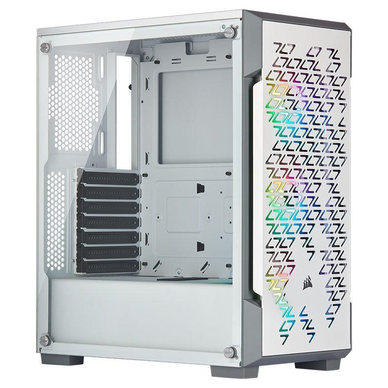 Vỏ máy tính kính cường lực Corsair iCUE 220T Airflow White - CC-9011174-WW