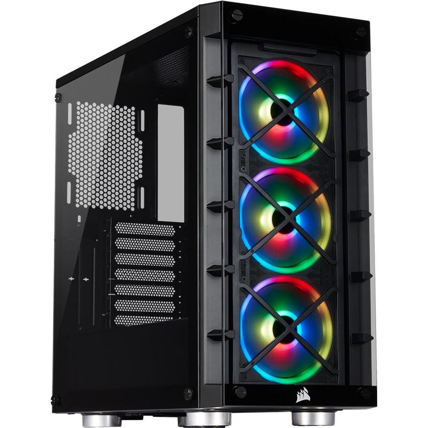 Vỏ máy tính kính cường lực Corsair  465X TG RGB Black - CC-9011188-WW