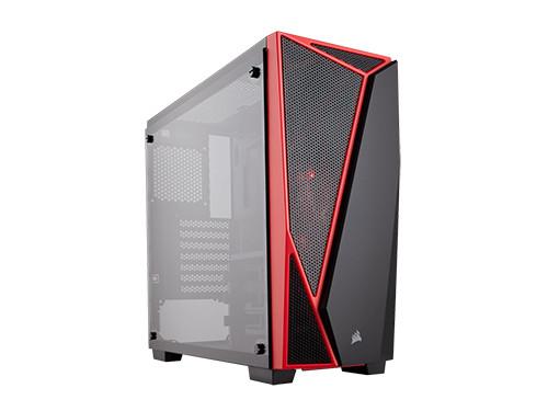 Vỏ máy tính kính cường lực Corsair  SPEC-04 Black/Red - CC-9011117-WW