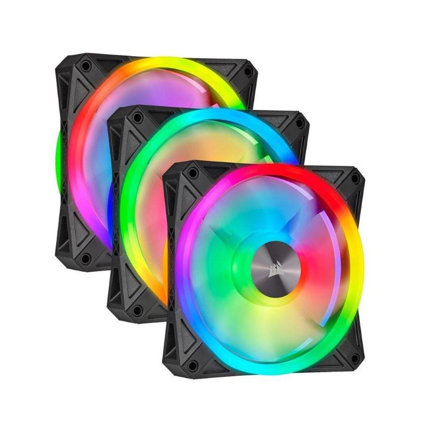 Fan case Corsair QL120 PRO RGB Bộ 3 fan 120mm kèm Node Core - NEW - CO-9050098-WW