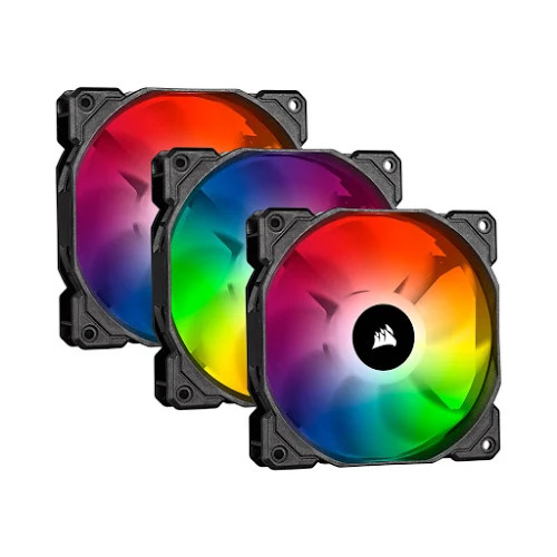 Fan case Corsair SP120 PRO RGB Bộ 3 fan 120mm kèm Node Core - CO-9050094-WW
